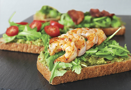 Sauteed Tomato, Avocado, And Parmesan Open Faced Sandwich Recipe ...