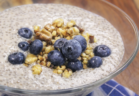 Mango Blueberry Chia Seeds Pudding Recipe — Dishmaps