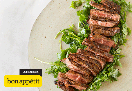 Chile-Rubbed Flat Iron Steak