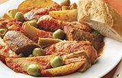 Chicken, Sausage and Potato Antipasto Bake