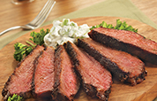 Cajun Crusted Ribeye Steak with Cucumber Yogurt