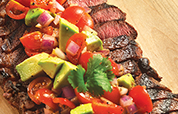 Top Sirloin with Balsamic Avocado Salsa