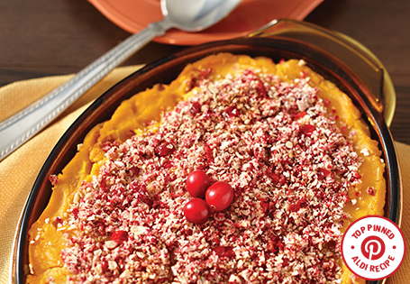 Butternut Squash Bake with Cranberry Oatmeal Crumble