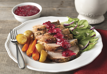 ... Poultry Grilled Turkey Breast with Cranberry-Honey Mustard Pan Sauce