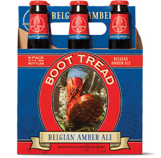 January Beer of the Month: Boot Tread Belgian Amber Ale.