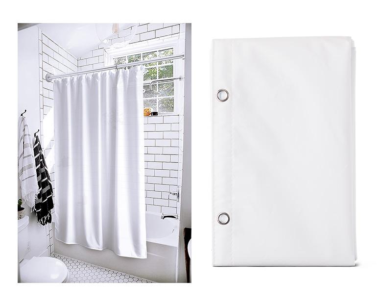Huntington Home PEVA Shower Curtain Liner View 4