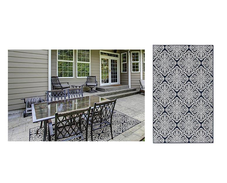 Huntington Home 5 X 8 Indoor Outdoor Area Rug Aldi Us