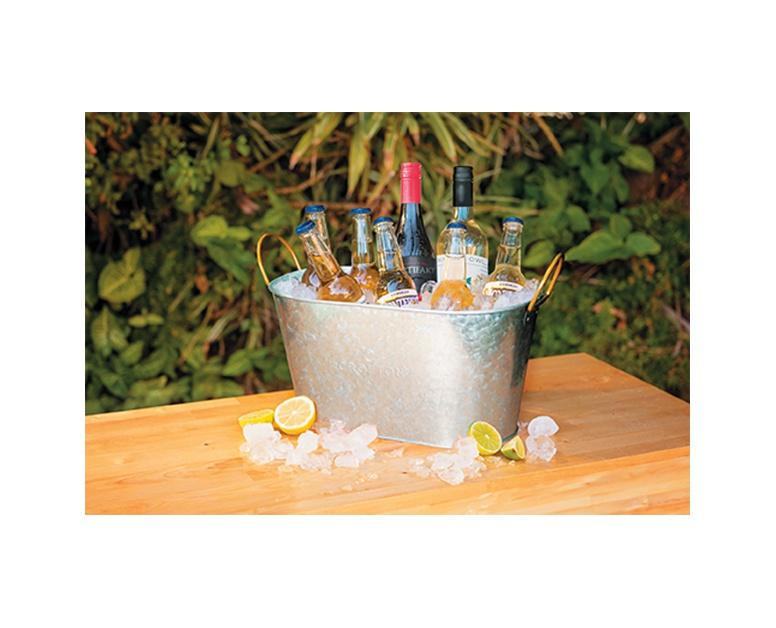 Crofton Galvanized Tray Or Beverage Tub Aldi Us