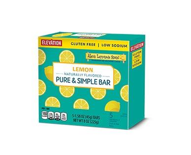 Elevation Pure & Simple Bars Lemon and Lemon Raspberry View 1