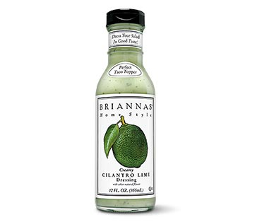Briannas Rich Poppy Seed or Creamy Cilantro Lime Dressing View 1