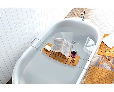 Easy Home Bamboo Bath Caddy View 2