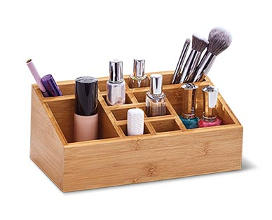 Easy Home Bamboo Cosmetic or Swivel Organizer View 1