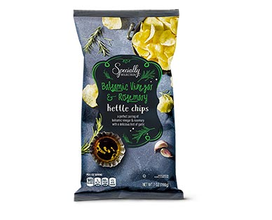 Specially Selected Balsamic Vinegar & Rosemary or Pancetta & Parmesan Kettle Chips View 1