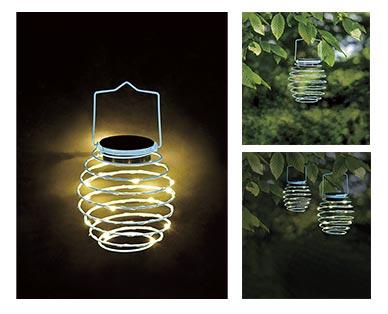 Gardenline Spiral Solar Lantern View 2