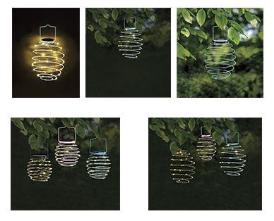 Gardenline Spiral Solar Lantern View 3
