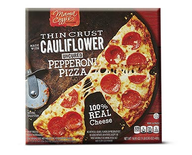 Mama Cozzi's Pizza Kitchen Pepperoni Cauliflower Thin Crust Pizza View 1
