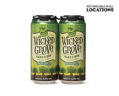 Wicked Grove Green Apple Hard Cider Cans View 1
