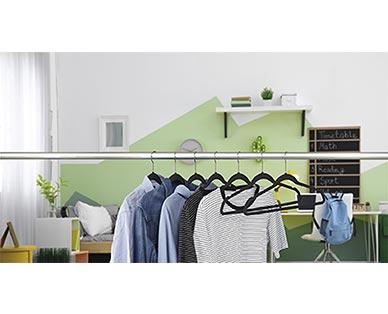 Easy Home 10-Pack Velvet Touch Hangers View 2