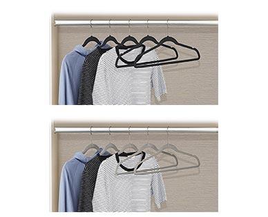 Easy Home 10-Pack Velvet Touch Hangers View 5