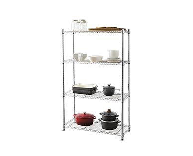 Easy Home 4-Tier Chrome Shelving View 1