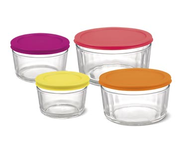 Crofton 8-Piece Glass Storage Bowls with Multicolored Lids View 4