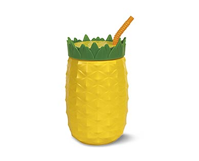 Cool Gear Pineapple, Watermelon or Beer Stein Sippers View 2