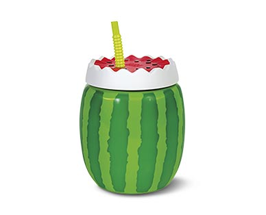 Cool Gear Pineapple, Watermelon or Beer Stein Sippers View 3