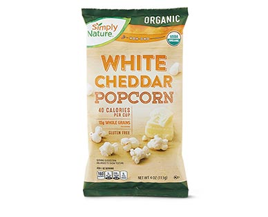 Simply NatureOrganic White Cheddar or Sea Salt & Black Pepper Popcorn View 1