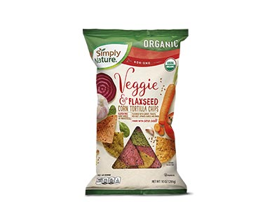 Simply Nature Organic Veggie & Flaxseed Corn Tortilla Chips View 1