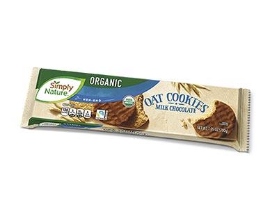 Simply Nature Organic Oat Cookies Milk or Dark Chocolate View 2