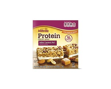 Millville Caramel Nut or Coconut Almond Protein Chewy Bars View 1