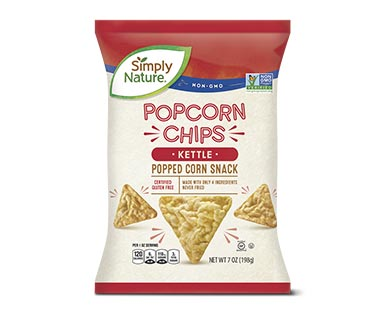 Simply Nature Kettle or White Cheddar Popcorn Chips View 1