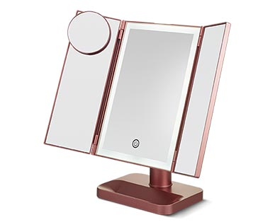 Visage Tri-Fold LED Vanity Mirror View 3