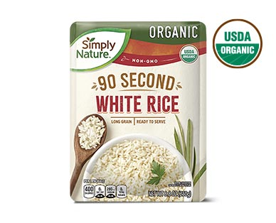 Simply Nature Organic Ready-to-Serve White and Brown Rice View 1