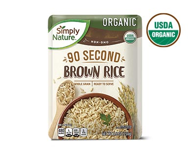 Simply Nature Organic Ready-to-Serve White and Brown Rice View 2