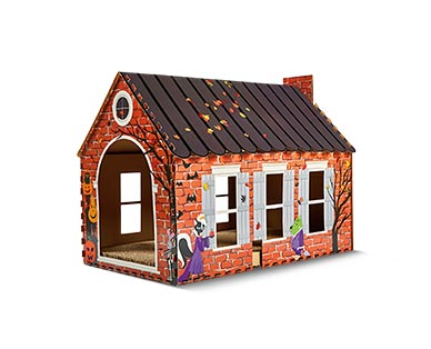 Heart to Tail Halloween Cat Scratching Playhouse View 1
