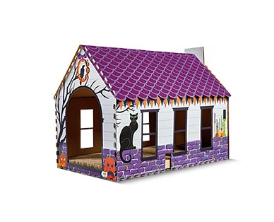 Heart to Tail Halloween Cat Scratching Playhouse View 3