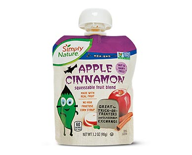 Simply Nature Halloween Apple Cinnamon Fruit Squeezies View 2