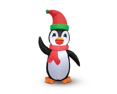 Merry Moments Penguin, Santa or Snowman 4' Inflatable View 1
