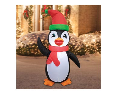 Merry Moments Penguin, Santa or Snowman 4' Inflatable View 2