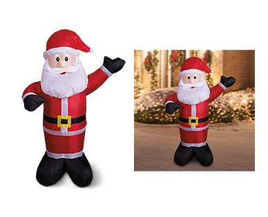 Merry Moments Penguin, Santa or Snowman 4' Inflatable View 3