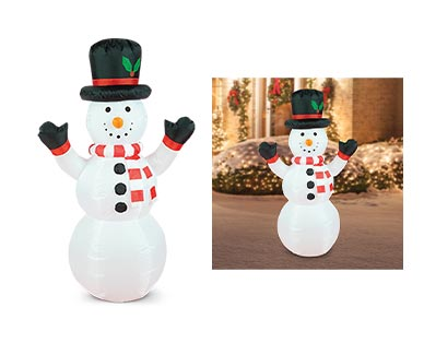Merry Moments Penguin, Santa or Snowman 4' Inflatable View 4