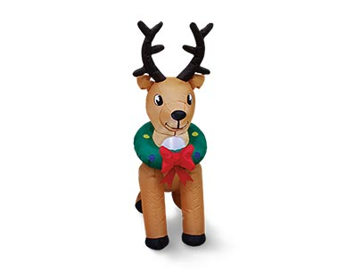 Merry Moments Reindeer, Tree or Stop Sign 4' Inflatable View 1