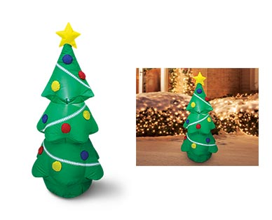 Merry Moments Reindeer, Tree or Stop Sign 4' Inflatable View 4
