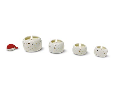 Huntington Home Stackable Christmas Tree or Snowman Candle View 1