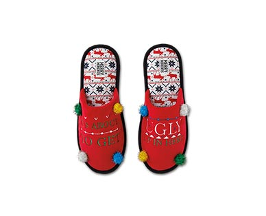 Merry Moments Novelty Holiday Slippers View 1