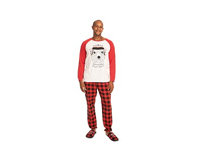 Merry Moments Men's or Ladies' Holiday Pajama Set View 1