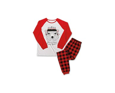 Merry Moments Men's or Ladies' Holiday Pajama Set View 2
