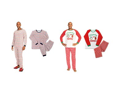 Merry Moments Men's or Ladies' Holiday Pajama Set View 3