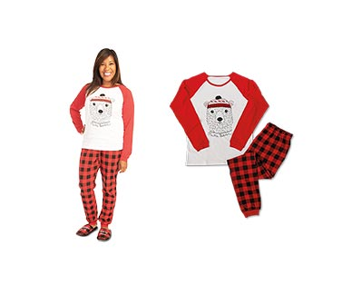 Merry Moments Men's or Ladies' Holiday Pajama Set View 4
